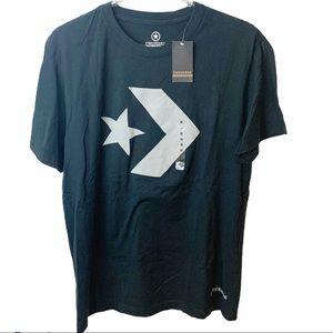 Converse l Mens Black Star Chevron Crewneck Tshirt